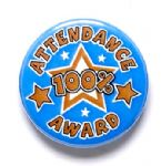 100% Attendance Award School Badge